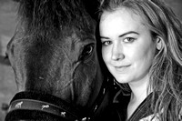 Girl And Horse Portrait